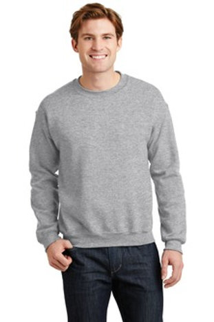 Crewneck Sweatshirt with Satin Stitch Block Letters