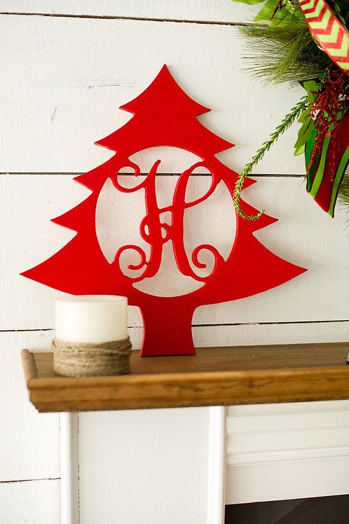 "18"" Christmas Tree Monogram"