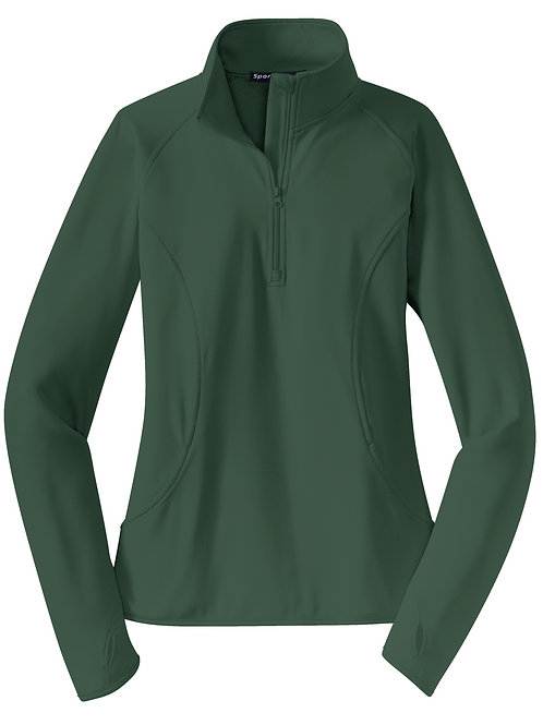 Ladies sport-wick 1/2 zip