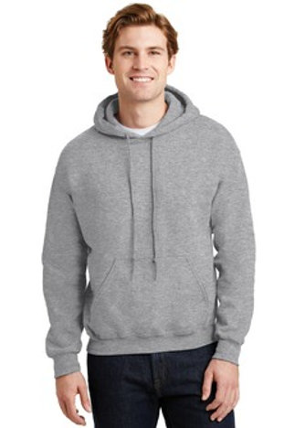 Hooded Sweatshirt with Satin Stitch Block Letters