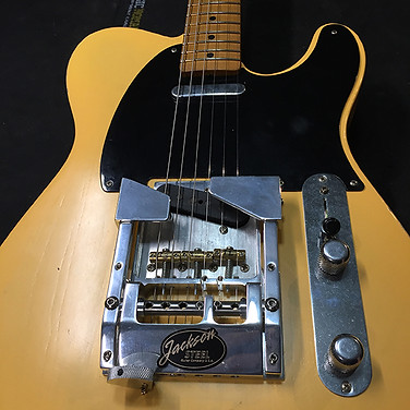 Tele with EDGE string bender by Jackson Steel Guitar