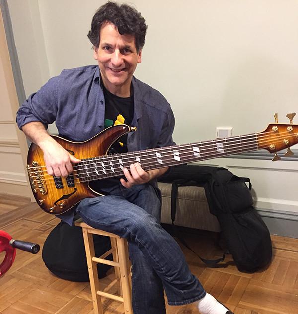 John Patitucci and his custom Yamaha smaller bass