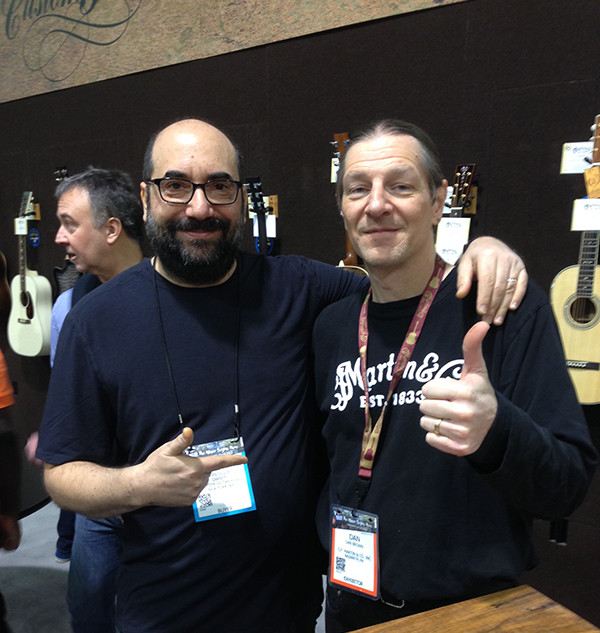 At NAMM with Danny Brown of Martin Guitars