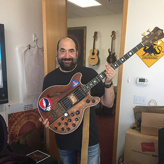 At Alembic with Phil Lesh's brown bass!!!!!!!!!!!!!