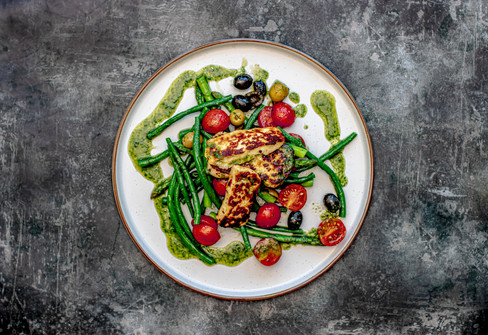 Halloumi, Asparagus & Bean Salad