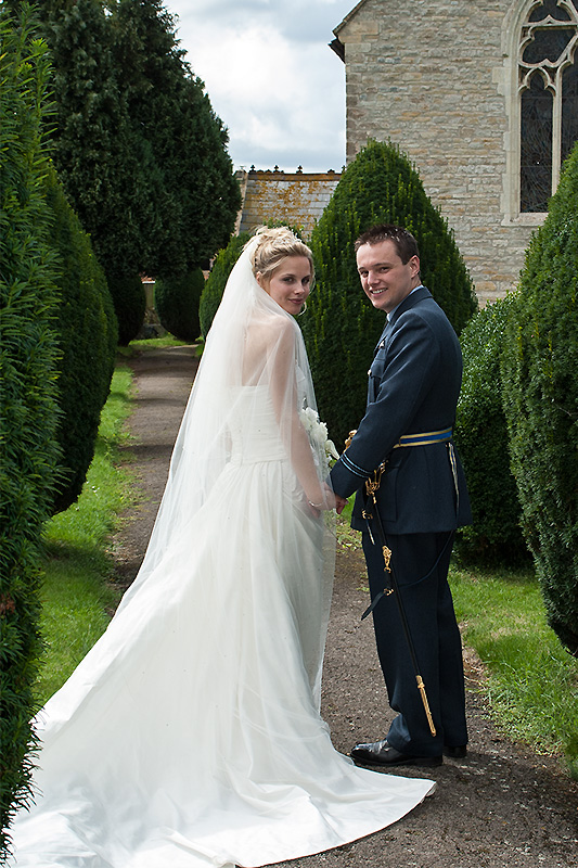 Bride and Groom at Newent Church