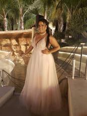 שמלת ערב ורוד בייבי מידה גדולה