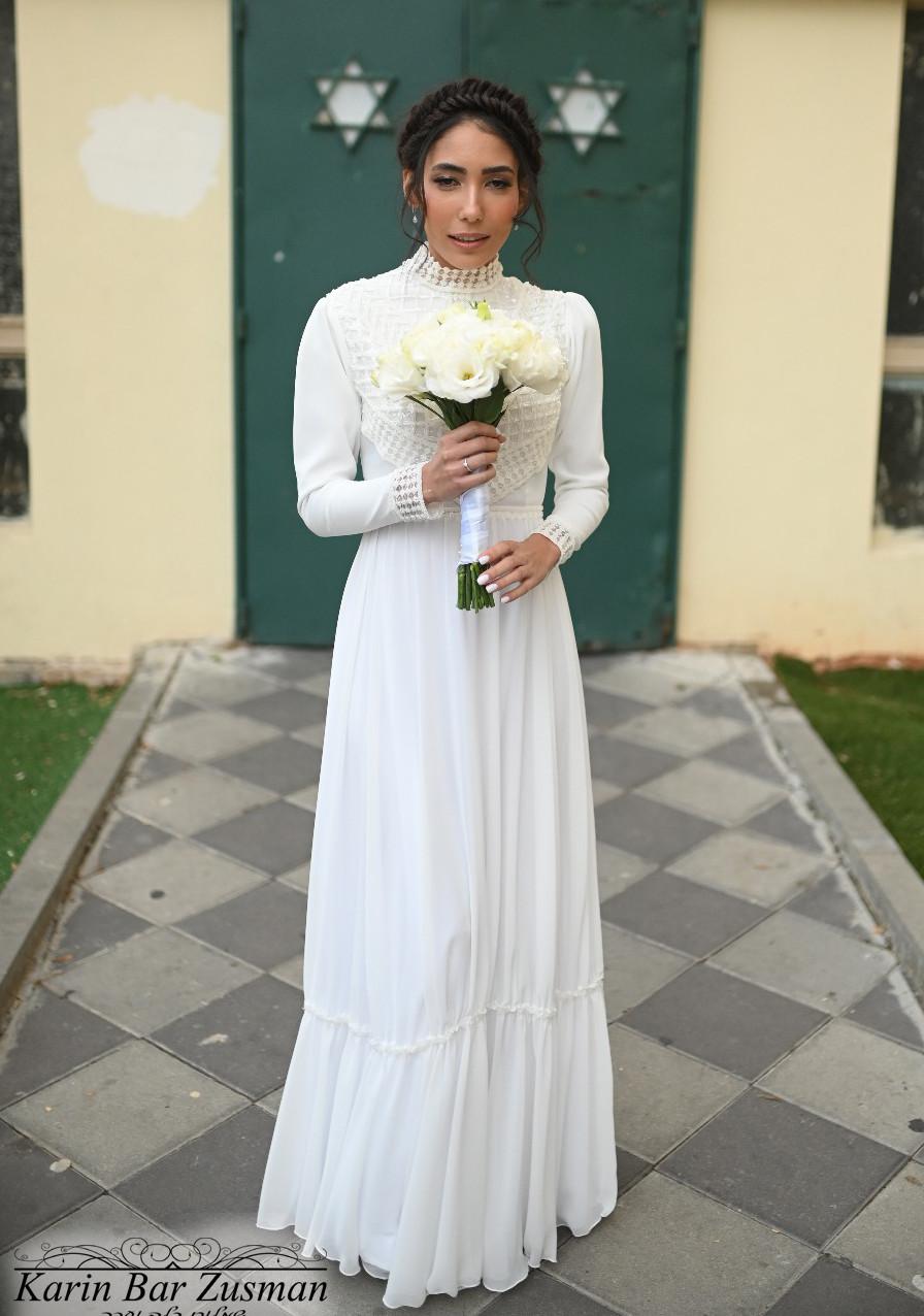 שמלת כלה צווארון