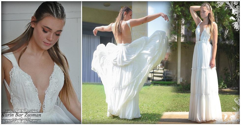 שמלת כלה משיפון בסגנון הבוהו שיק