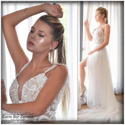 שמלת כלה עם שובל ארוך וייחודי