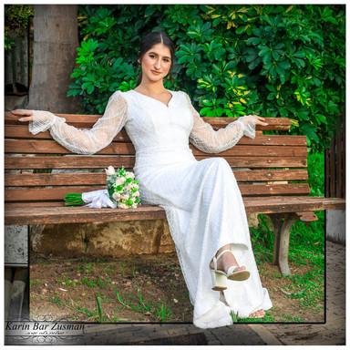 Beaded wedding dress model Talia