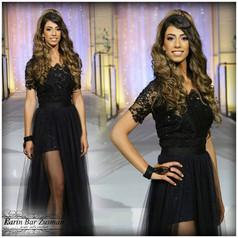 שמלת ערב שחור צנועה