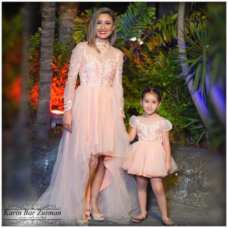 שמלות ערב אפרסק אמא בת