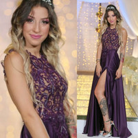 שמלת ערב סגולה