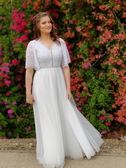 שמלת כלה מנצנצת דגם טליה שואו