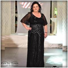 שמלת ערב לאמא של כלה / חתן   שחור פייטים