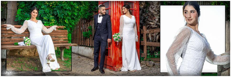Impressive beaded wedding dress, model Talia