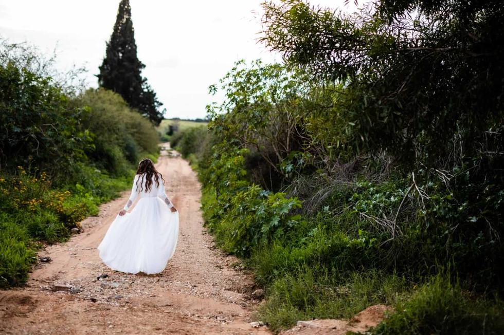 Wedding dress with a stunning faint skirt