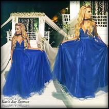 שמלת ערב כחול רויאל טול