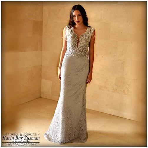 Gray fish evening dress