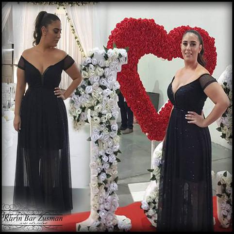 שמלת ערב שחור נצנצ