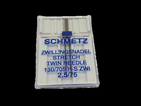 SCHMETZ- מחט כפולה  סטרץ