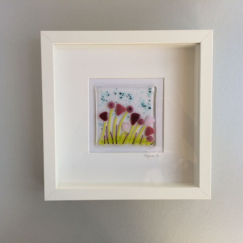 Little Orchard Glass - Framed glass art - Summer Flowers