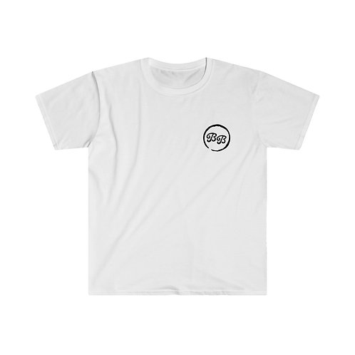 'Bottle' on Back Unisex White T-Shirt