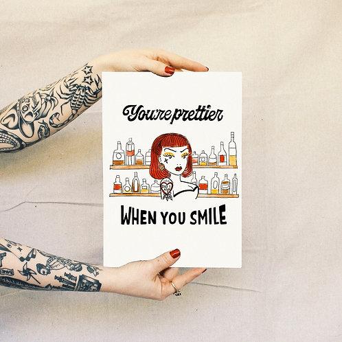'Smile' Print - White