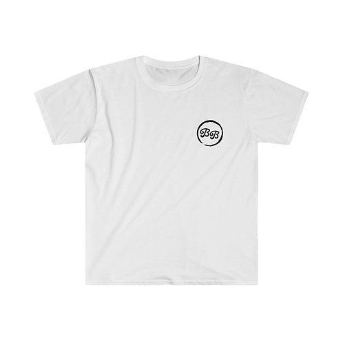 'Real Job' on Back Unisex White T-Shirt