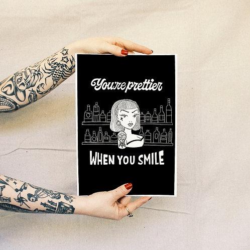 'Smile' Print - Black