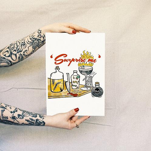 'Surprise Me' Print - White