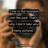 Jon Harris Quote : Quote on Living in the Moment