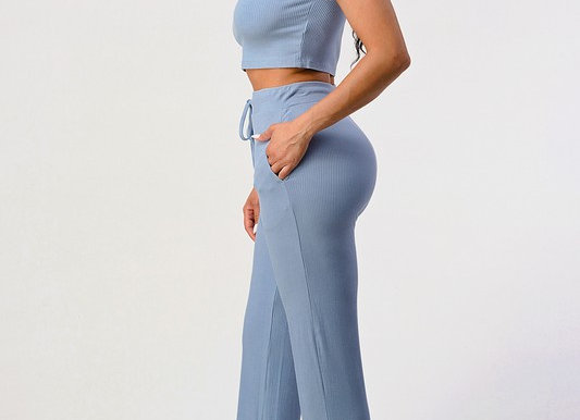 Ribbed Knit Two Piece Set