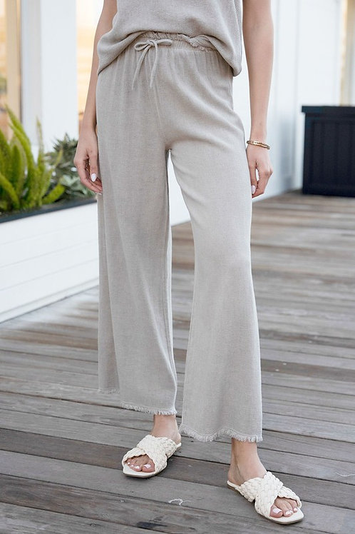 Cotton Flare Pants by Venti 6