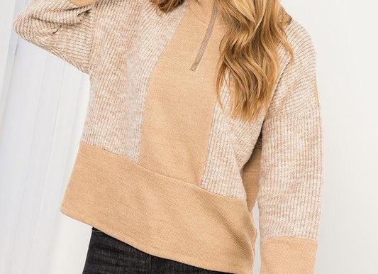 Knit Half Zip Pullover Sweater