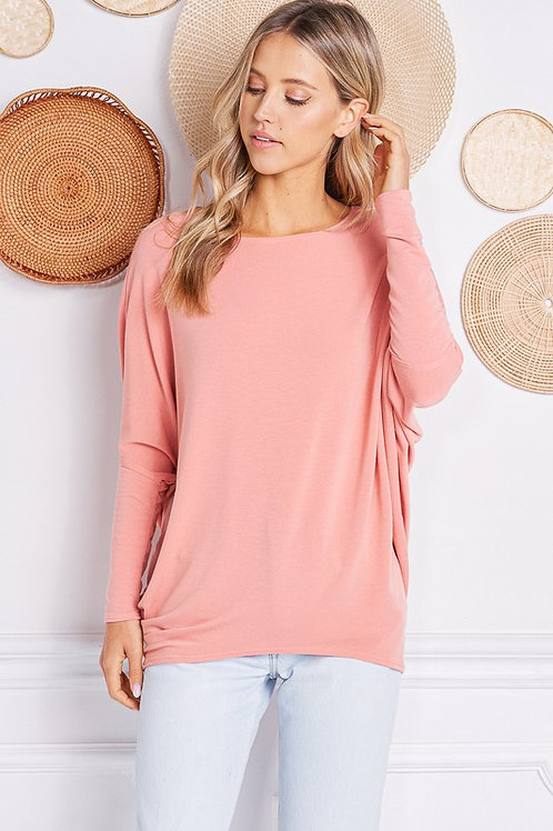 French Terry Dolman Ballet Pink