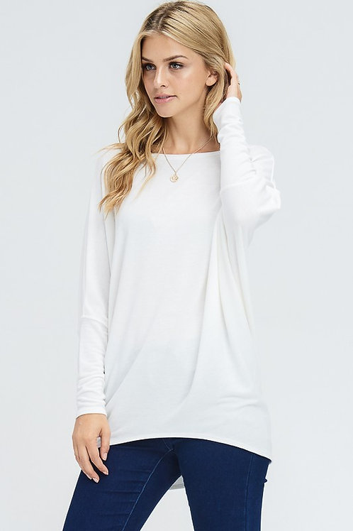 French Terry Dolman Ivory