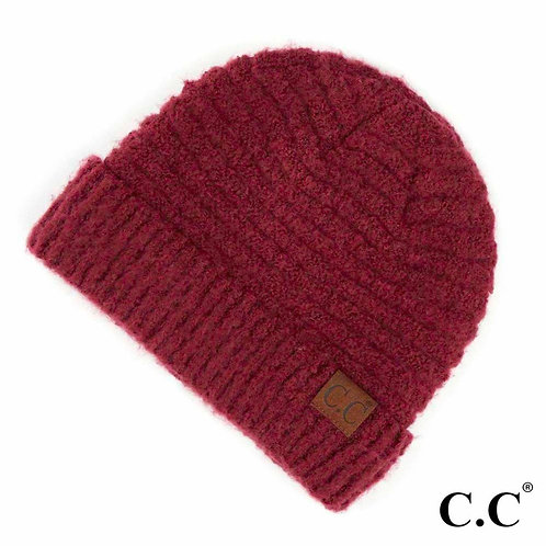 C.C. BEANIE Solid Boucle Knit Cuff