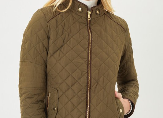 Ultra Lightweight Quilted Padded Zip Up Jacket