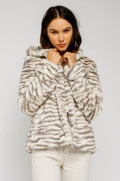 Zebra Fur Jacket