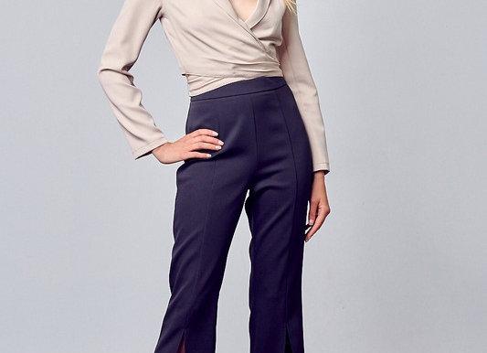 Open Front Split Pants