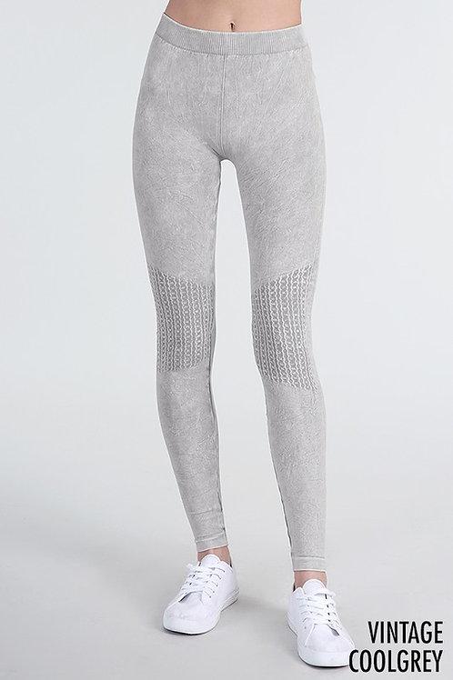 Vintage Knee Shirring Long Leggings by NikiBiki