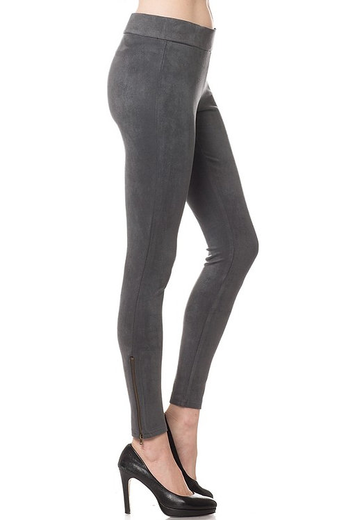 Faxu Suede Leggings by Olivaceous