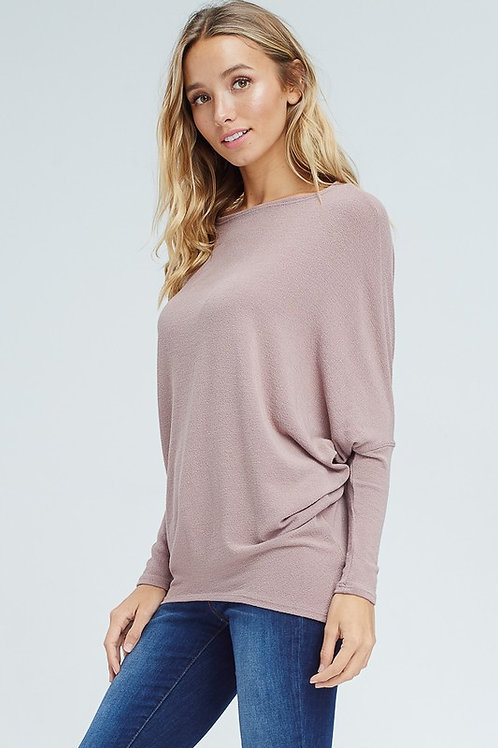 Off the Shoulder Mauve