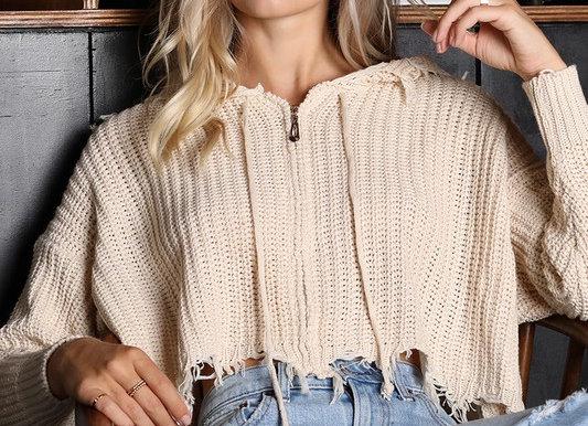 Zip Up Hoodie Sweater