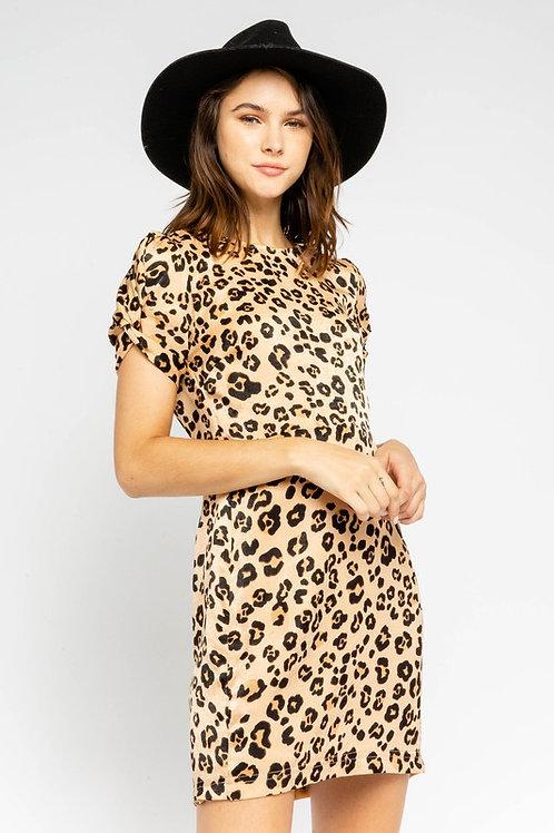 Leopard Shift Dress by Olivaceous