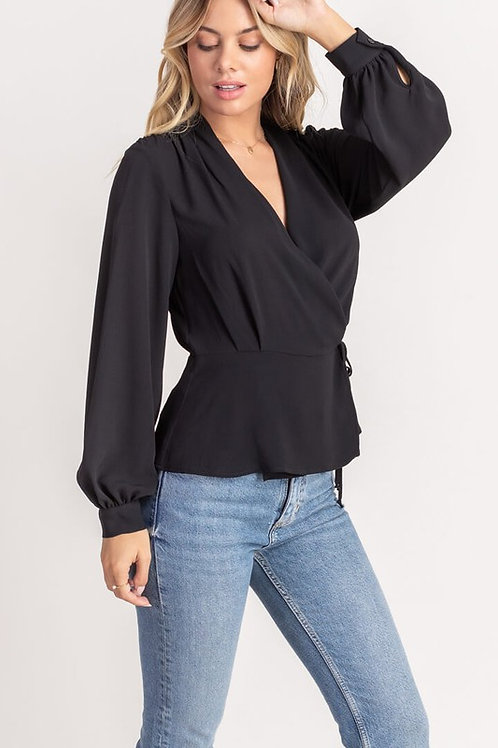 Lightweight Wrap Blouse by Lush