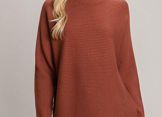 Ribbed Drop Shoulder Sweater