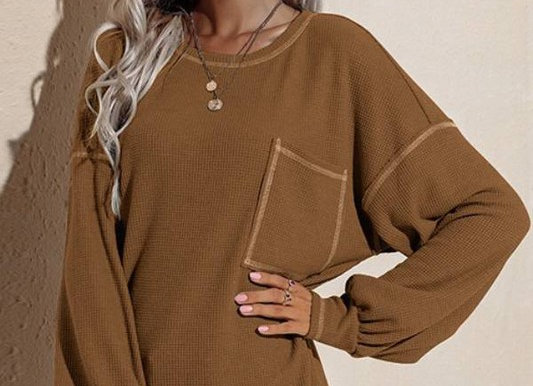 Chic Round Neck Pullover Knit Top